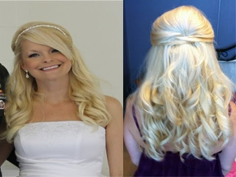 Wedding Hairstyle - Prom Formal Half-Up Hairstyle