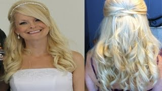 Wedding Hairstyle - Prom Formal Half-Up Hairstyle Thumbnail