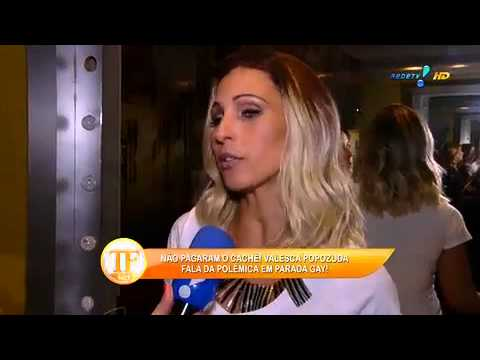 Valesca Sobre Anúncio De Namoro  'Quis Dizer Que Estou Feliz' - TV Fama 18/09/2014