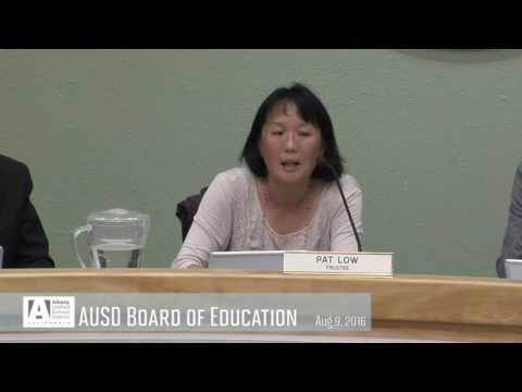 AUSD Board of Education -  Aug 9, 2016