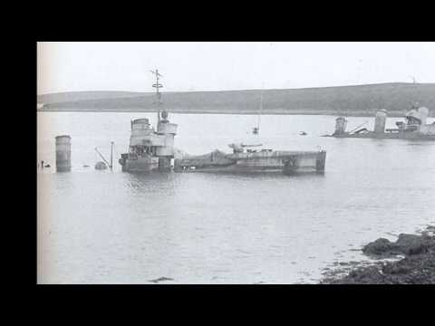 21st June 1919: The German fleet is scuttled at Scapa Flow