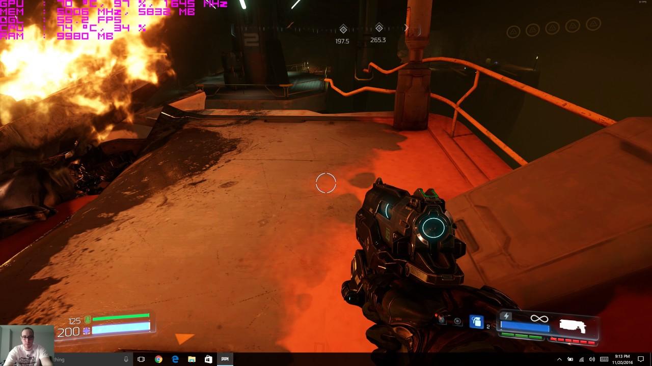 Razer Blade Pro 2016 (GTX 1080) Doom (2016) Benchmark Best Video Yet!  4k60fps