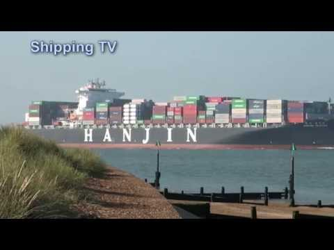Hanjin Yantian inbound Felixstowe, 16th July 2014