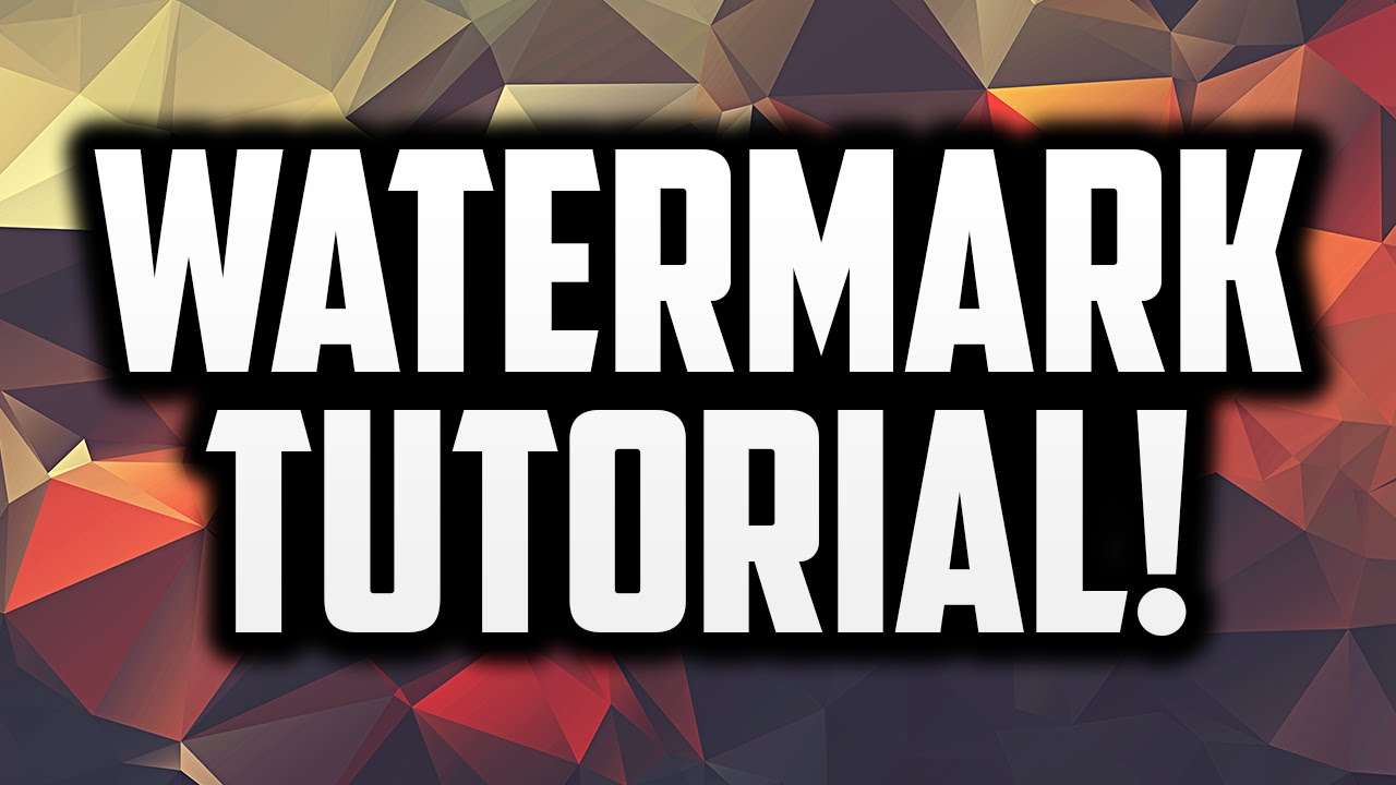 How to make a watermark for youtube videos in photoshop clipzui baditri Image collections