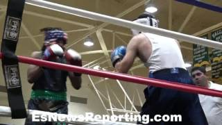Wow fighter gets KO win than disqualified seconds after For Blowing A KISS!!! EsNews Boxing