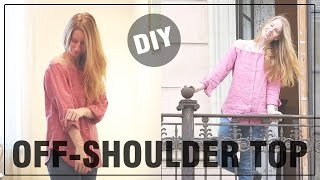 DIY schulterfreie Bluse - DIY FASHION APRIL, Off-Shoulder, Upcycling