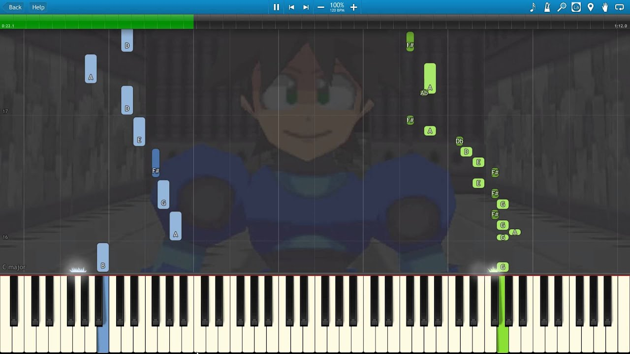 Download Megaman Legends - Apple Market (Piano)[Synthesia][HD]