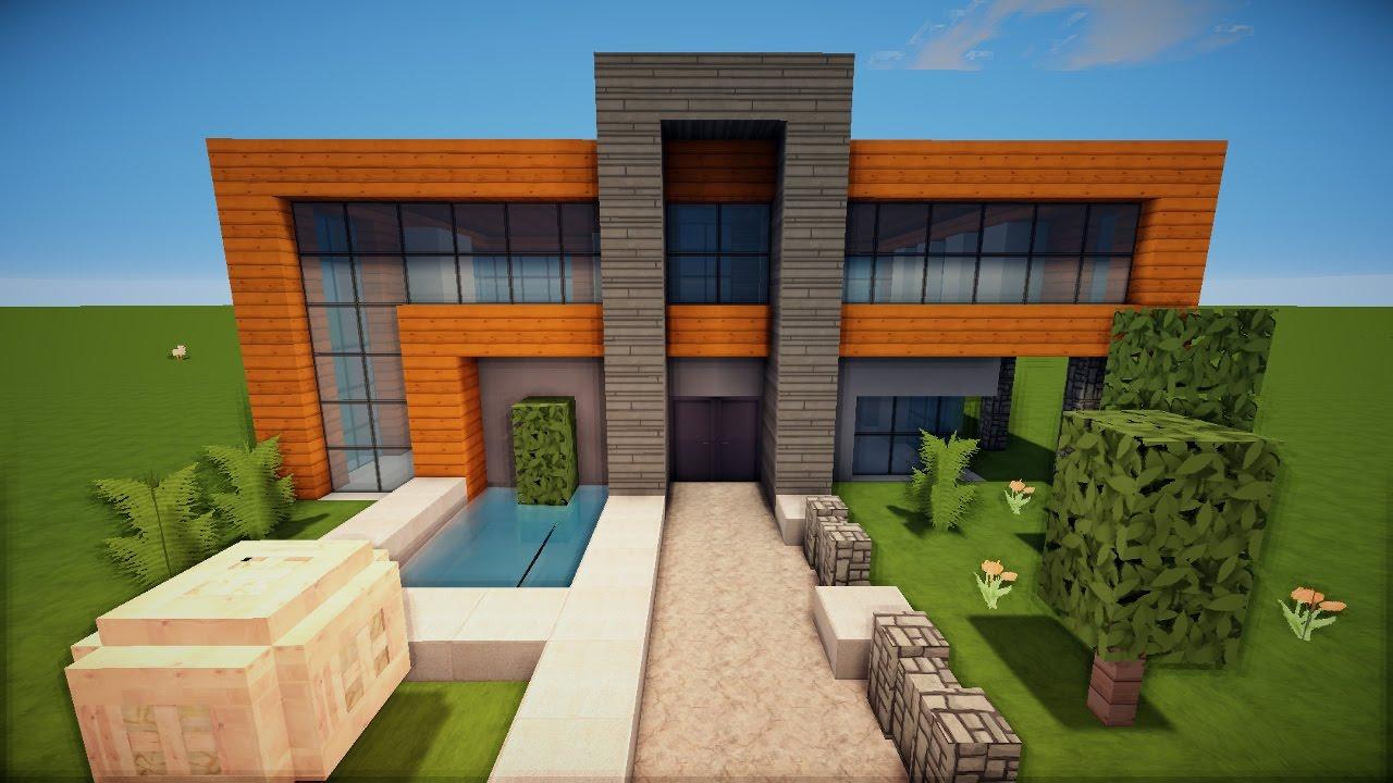 Bezaubernd Moderne Häuser Innen Dekoration Von Minecraft Spielen Deutsch Minecraft Modernes Nachbauen Bild