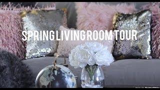 🌸 SPRING GLAM LIVING ROOM TOUR~ HOME GOODS~ROSS~TARGET FINDS🌸