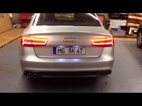 vorfacelift audi a6 limousine mit facelift r ckleuchten youtube. Black Bedroom Furniture Sets. Home Design Ideas
