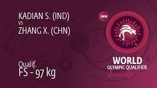 Qual. FS - 97 kg: S. KADIAN (IND) df. X. ZHANG (CHN) by TF, 13-2