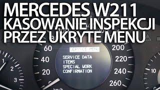 Kasowanie inspekcji serwisowej Mercedes-Benz W211 (reset ukryte menu klasa E)