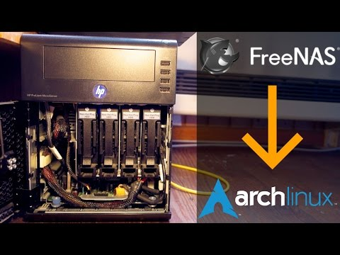 Switching from FreeNas to Arch Linux on my NAS