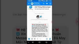 Vụ lừa đảo từ messenger#1