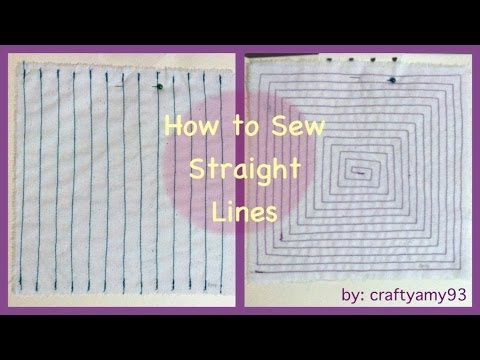 how to sew straight lines intro to sewing 101 series ep 1 youtube. Black Bedroom Furniture Sets. Home Design Ideas