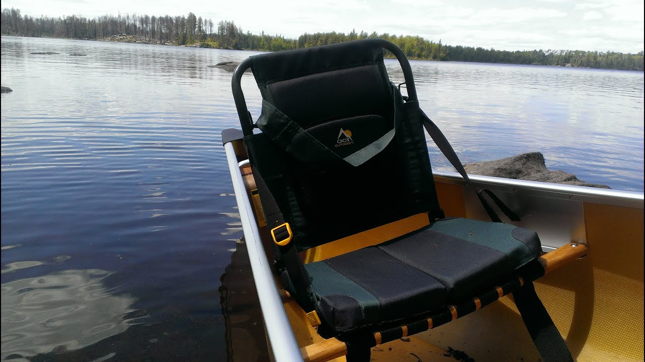 GCI Outdoor Sitebacker Canoe Seat Review   YouTube