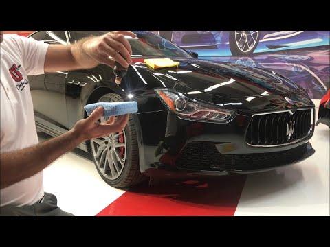Coating Ceramic Pro Gold package on Maserati. Покрытия керамик про на Мазарати.