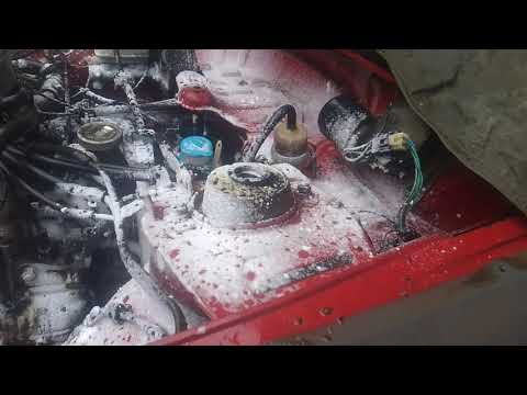 Remove radiator and headlights  Clean engine with Oven cleaner