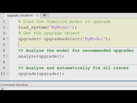 Upgrade Advisor API - MATLAB and Simulink