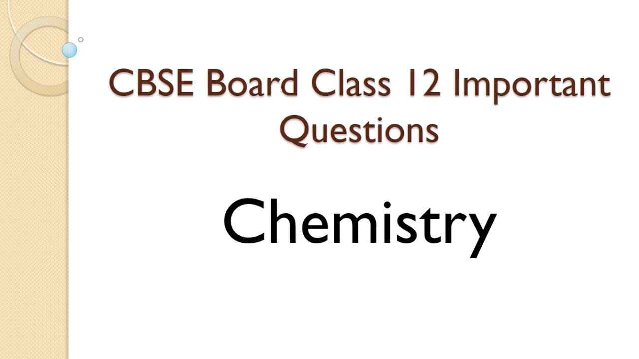 2nd year chemistry chapter 9 important long questions