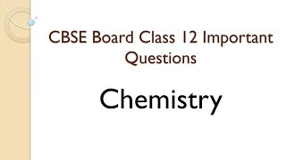 Chemistry questions for competitive exams