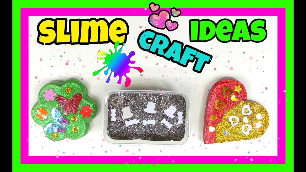 Slime Craft Ideas Make Colorful Crafts For Kids Tv Youtube