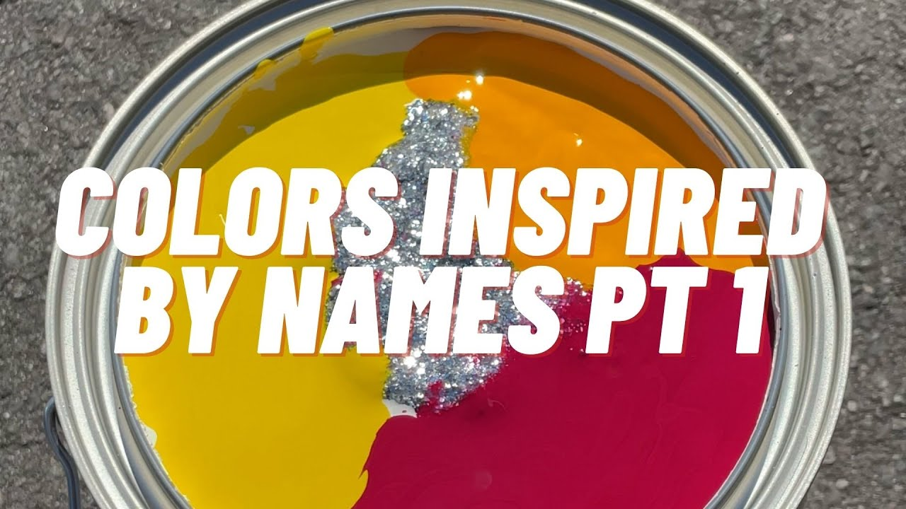 Mixing Paint Colors Inspired by Names Part 1: Sparkle #shorts