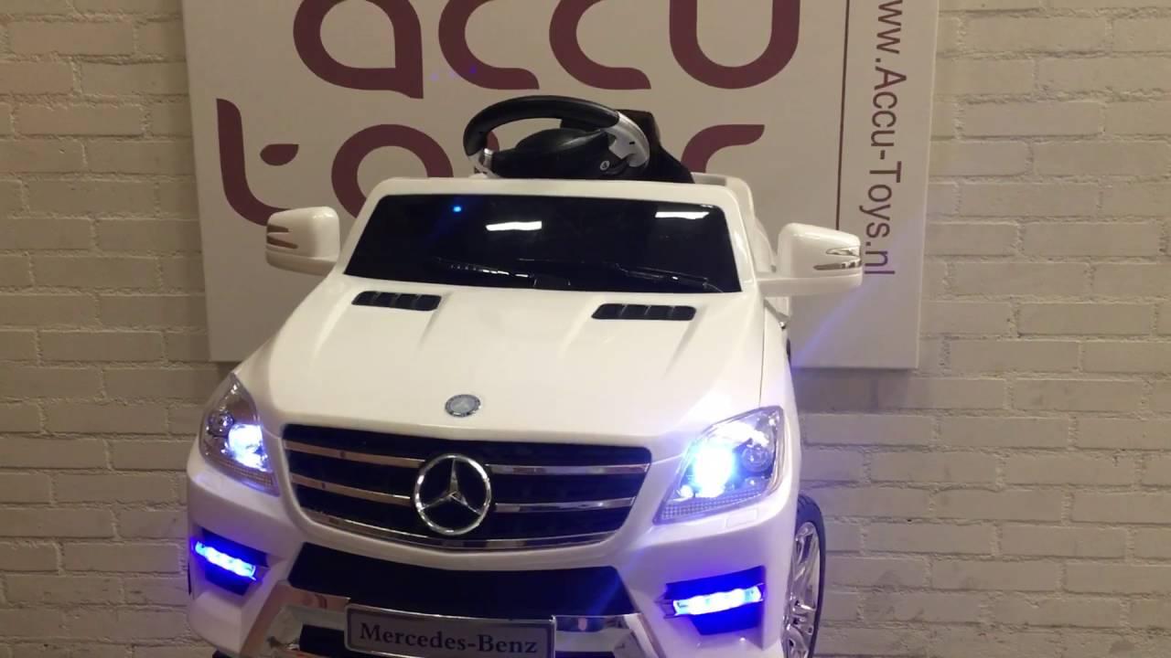 Mercedes Ml350 Bij Www Accu Toys Nl Elektrische Auto Kinderen Youtube
