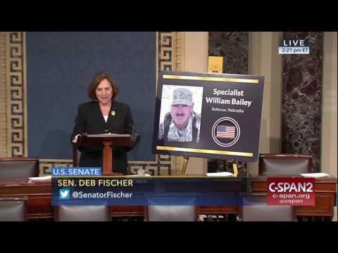 Senator Fischer Honors Specialist William Bailey