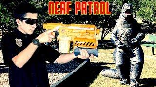 Nerf Patrol vs Godzilla