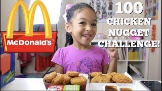 100 CHICKEN NUGGET CHALLENGE!!!!