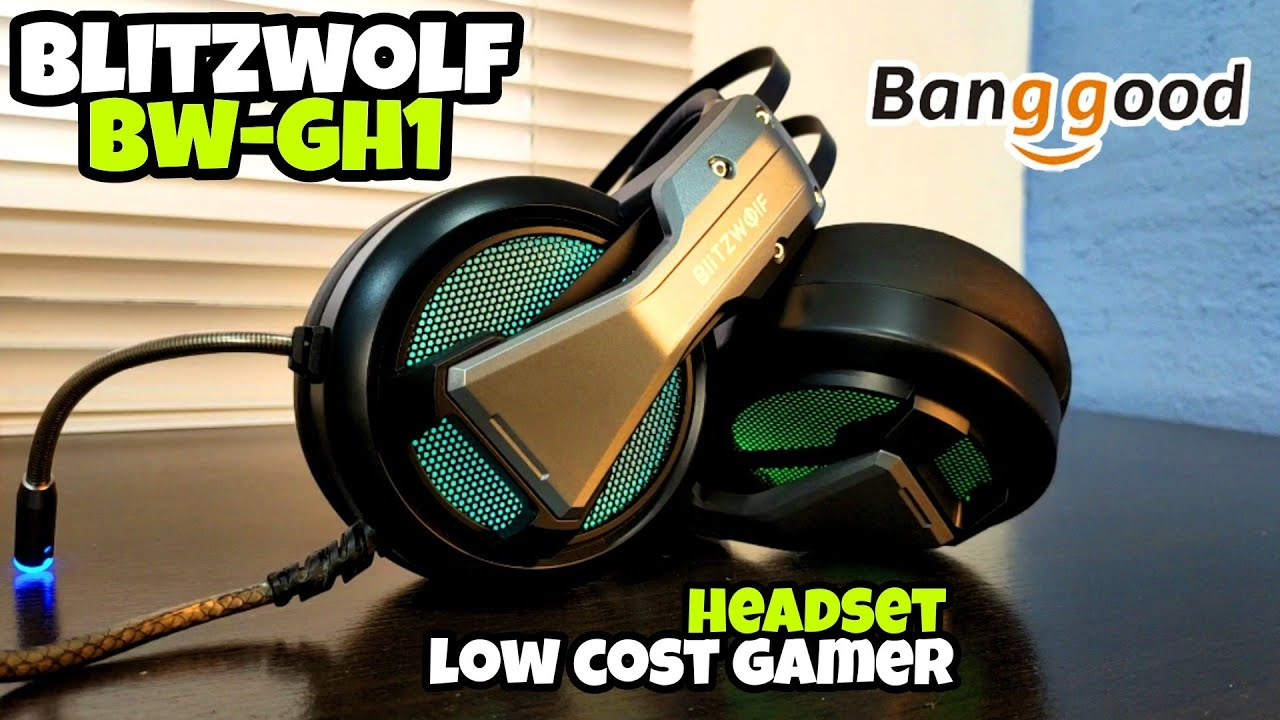 $29 HEADSET GAMER RGB LOW COST! BLITZWOLF BW-GH1