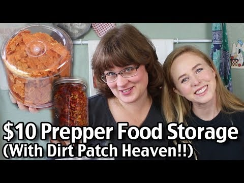 $10 Prepper Food Storage (With Dirt Patch Heaven)