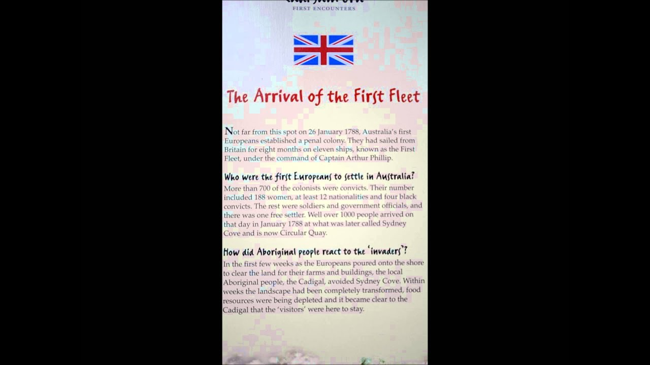 The story of the arrival of the FIRST FLEET near the Sydney Opera House  Australia