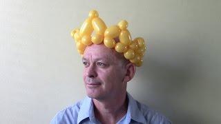 как сделать корону из шаров
