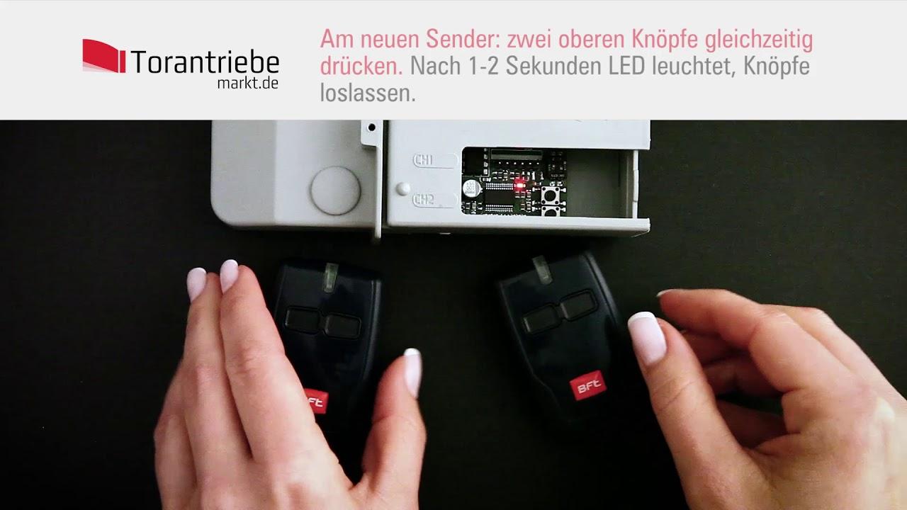 Favorit HOW TO: BFT Handsender programmieren - kodierung Handsender zum PS62