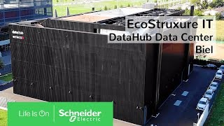 EcoStruxure IT: Energieeffizienz & Innovation im DataHub Data Center Biel | Schneider Electric