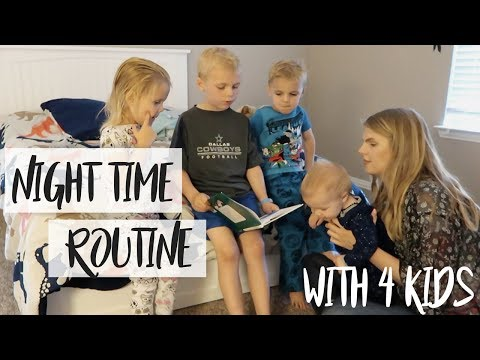 SOLO MOMMY NIGHT TIME ROUTINE | with 4 kids