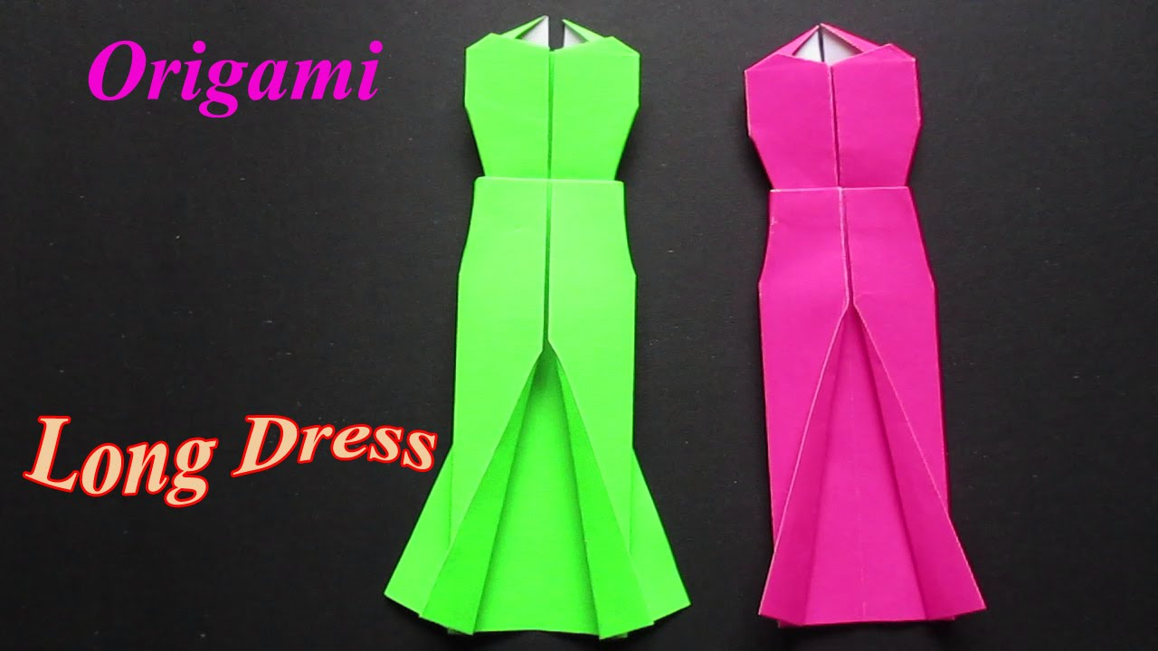Origami Dress - Easy Origami Dress Step By Step - YouTube
