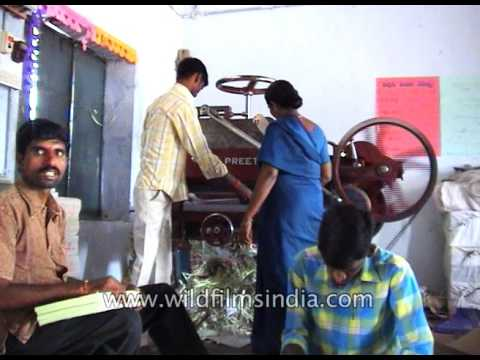 Physically challenged people run a printing press in India