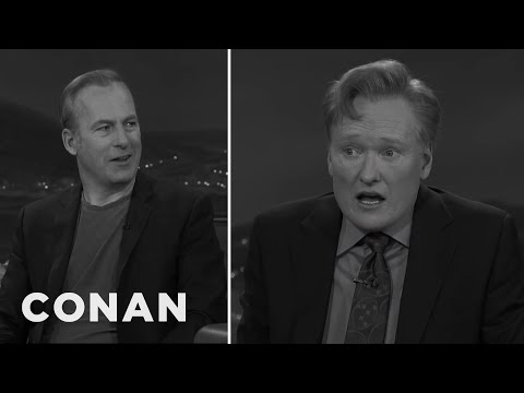 Bob Odenkirk Shows Conan How To Act In Black & White