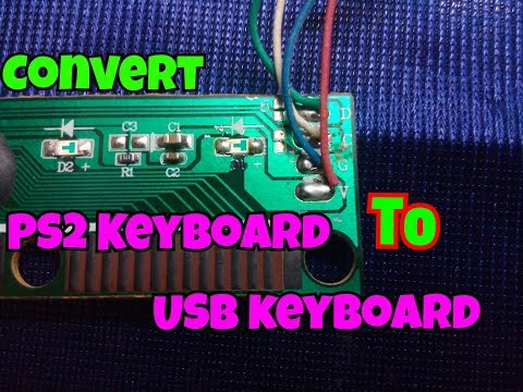how to convert ps2 keyboard to usb keyboard [ps2 to usb] simple process easy way PS2 Pump Diagram