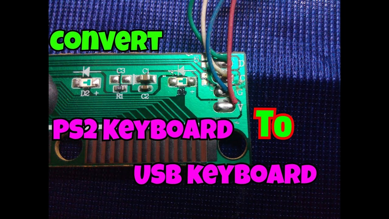 How To Convert PS2 Keyboard To USB Keyboard..[PS2 To USB]..Simple   Wire Wiring Diagram Computer Keyboard on