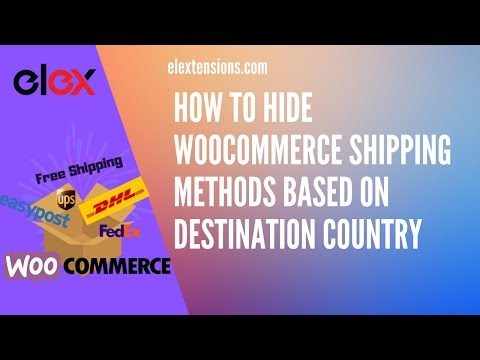 How to Hide WooCommerce Shipping Methods based on Destination Country thumbnail