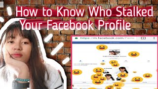 How to know who stalked your facebook profile