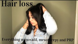 Hair loss journey all things telogen effluvium & alopecia and trying minoxidil, PRP and mesotherpy