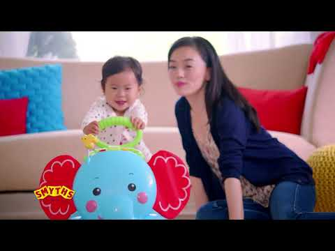 Smyths Toys - Fisher-Price 3-in-1 Bounce, Stride & Ride Elephant