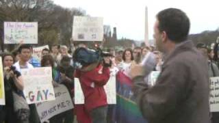 Washington, DC March and Protest Against Prop 8 / for Gay Marriage (part 1/2)
