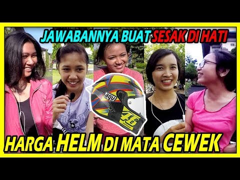 Harga Helm Di Mata Cewek , BUAT SEDIH PEMILIK HELM MAHAL - TTM (Tanya-Tanya Motovlog)