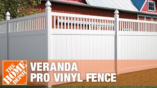 Veranda Pro Vinyl Fence - The Home Depot